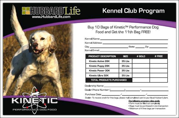Performance Dog Food Kennel Club