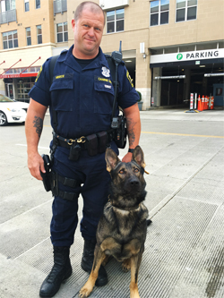 Officer Meece and K9 Pedro